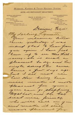 Primary view of object titled '[Letter from Claude D. White to Linnet Moore, September 24, 1901]'.