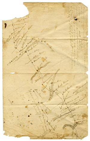 Primary view of object titled '[Map of the Texas-Arkansas Border]'.