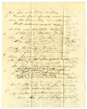 Primary view of object titled '[Poem]'.