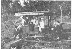 "Primary view of object titled '[A LakeWood Park Scenic Railway, Dinky Car ""Esther""]'."