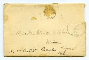 [Envelope for invitation, May 26, 1909]