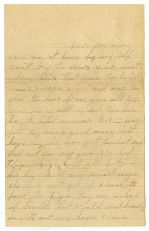 Primary view of object titled '[Letter to Mary Moore, circa 1909]'.