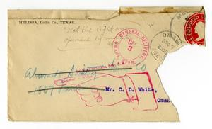 Primary view of object titled '[Envelope addressed to Claude D. White]'.
