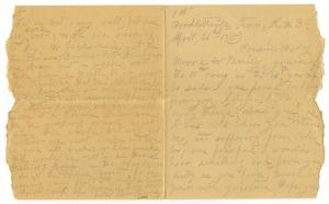 Primary view of object titled '[Letter from S. A. Thornhill to Mary Moore, April 21, 1910]'.