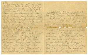 Primary view of object titled '[Letter from Sally Thornhill to Mary Ann Moore, February 12, 1911]'.