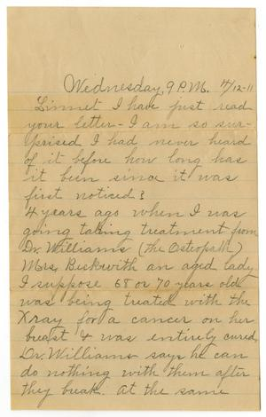 Primary view of object titled '[Letter from Alice Griffin and Birdie McGee to Linnet White, April 12. 1911]'.