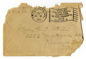 Primary view of object titled '[Envelope for Linnet Moore White, June 5, 1913]'.