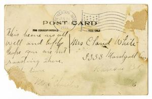 Primary view of object titled '[Postcard to Linnet Moore White, July 11, 1913]'.