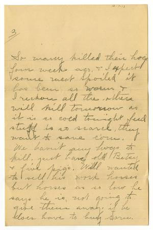 Primary view of object titled '[Letter from Birdie McGee to Mary Moore, December 7, 1913]'.