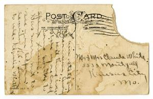 Primary view of object titled '[Postcard to Claude and Linnet Moore White, December 23, 1913]'.