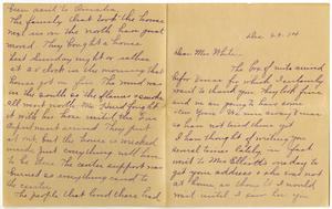 Primary view of object titled '[Letter from Mrs. M. G. Sappington to Linnet White, December 29, 1914]'.