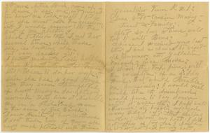 Primary view of object titled '[Letter from Sally Thornhill to Mary Moore, Linnet White, and Family, June 6, 1915]'.