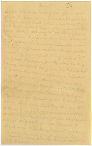 Primary view of object titled '[Letter from Laura Jerningan to Mary Moore, December 1, 1916]'.