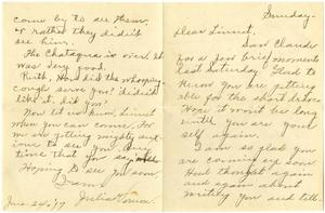 Primary view of object titled '[Letter from Julia Vernon to Linnet White and Family, June 24, 1917]'.