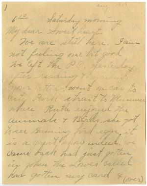 Primary view of object titled '[Letter from Linnet White to Claude D. White, August  1917]'.