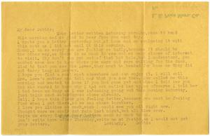Primary view of object titled '[Letter to Linnet White, August 6, 1917]'.