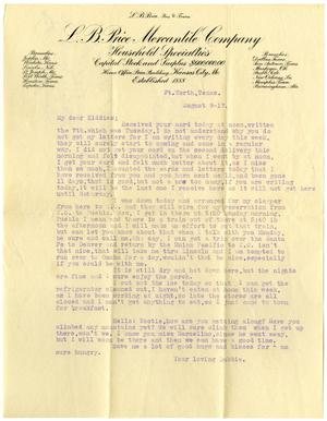 Primary view of object titled '[Typed Letter, August 9, 1917]'.