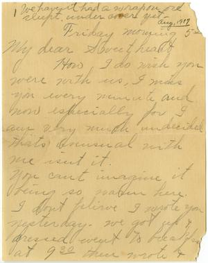 Primary view of object titled '[Letter from Linnet White to Claude D. White, August 3. 1917]'.