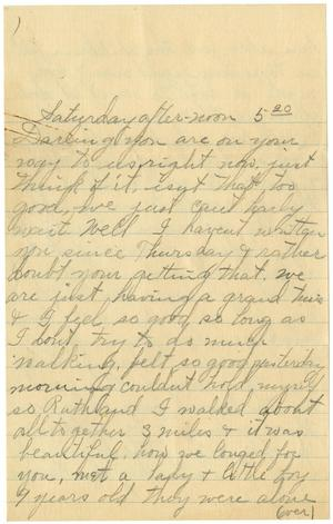 Primary view of object titled '[Letter from Linnet White to Claude White, May 20, 1917]'.