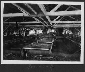 Primary view of object titled '[Southern Pine Lumber Company Sawmill Interior]'.