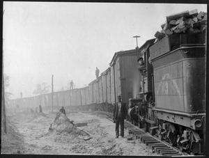 Primary view of object titled '[Texas South-Eastern Railroad Engine 3]'.