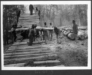 Primary view of object titled '[Texas South-Eastern Railroad Track Laying Crew]'.