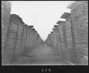 Primary view of object titled '[Hardwood Lumber Yard Alley - 2]'.