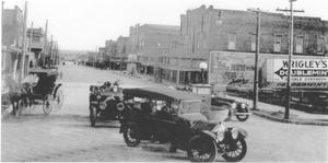 Primary view of object titled '[Looking South on Mesquite Street]'.