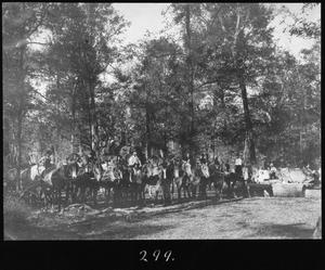 Primary view of object titled '[Camp 1 Animal Team in Woods]'.