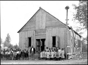 Primary view of object titled '[African American School House]'.