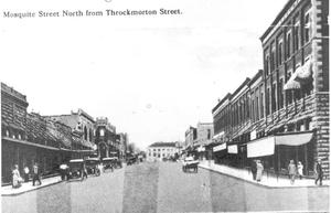 Primary view of object titled 'Mesquite Street North From Throckmorton Street'.