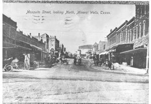 Primary view of object titled 'Mosquito  Street, Looking North, Mineral Wells, Texas'.
