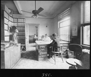 Primary view of object titled '[Southern Pine Lumber Company Billing Clerk's Office]'.