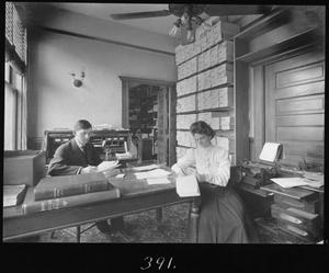 Primary view of object titled '[J. E. Hintz and Nellie Ringo]'.