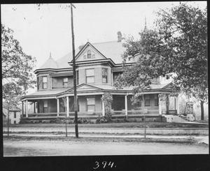 Primary view of object titled '[Thomas Lewis Latane Temple Home - from North]'.