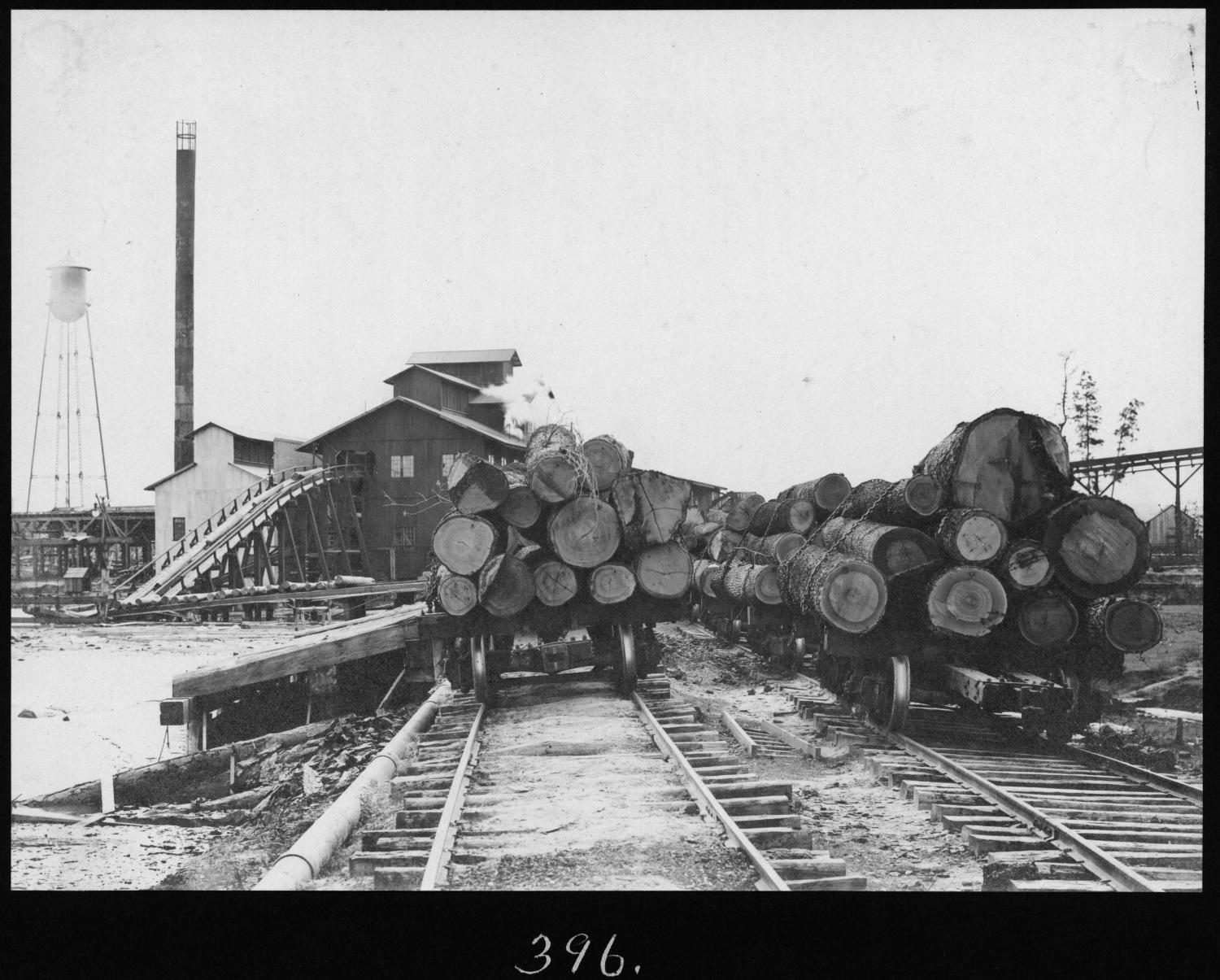 Hardwood log cars and sawmill the portal to texas history