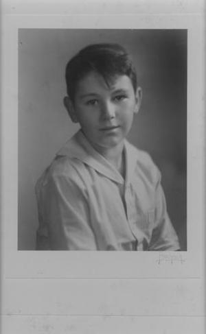 Primary view of object titled '[Hilmar Moore, around the age of nine]'.