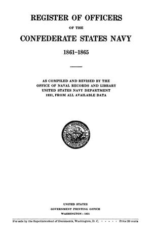 Register of Officers of the Confederate States Navy, 1861--1865