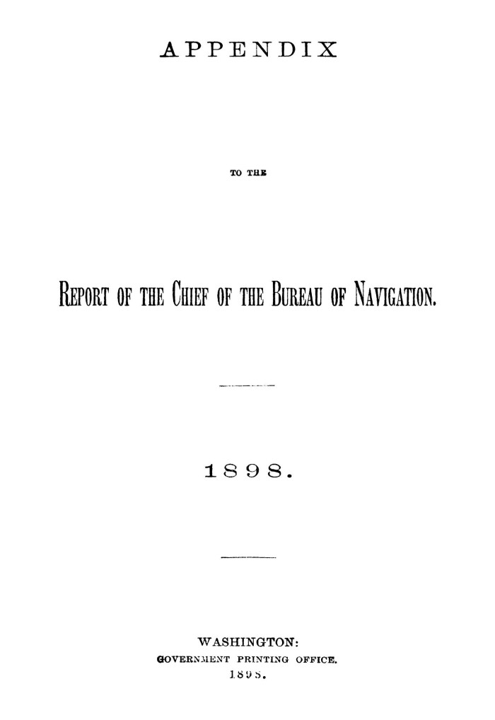Appendix To The Report Of The Chief Of The Bureau Of Navigation