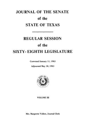 Primary view of object titled 'Journal of the Senate of the State of Texas, Regular Session of the Sixty-Eighth Legislature, Volume 3'.