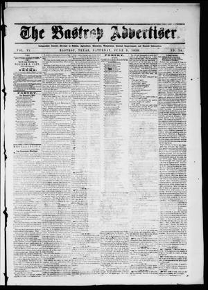 Primary view of object titled 'The Bastrop Advertiser (Bastrop, Tex.), Vol. 6, No. 14, Ed. 1 Saturday, June 5, 1858'.