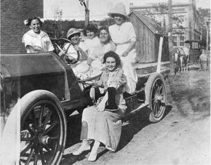 Primary view of object titled '[Women in a Truck]'.