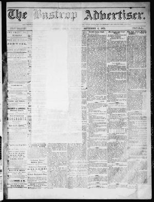 Primary view of object titled 'The Bastrop Advertiser (Bastrop, Tex.), Vol. 16, No. 42, Ed. 1 Saturday, September 6, 1873'.