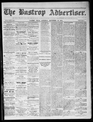 Primary view of object titled 'The Bastrop Advertiser (Bastrop, Tex.), Vol. 16, No. 44, Ed. 1 Saturday, September 20, 1873'.