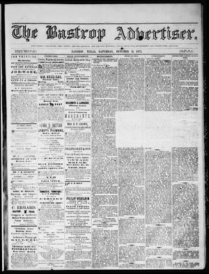 Primary view of object titled 'The Bastrop Advertiser (Bastrop, Tex.), Vol. 16, No. 47, Ed. 1 Saturday, October 11, 1873'.