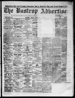 Primary view of object titled 'The Bastrop Advertiser (Bastrop, Tex.), Vol. 17, No. 2, Ed. 1 Saturday, November 29, 1873'.