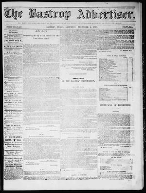 Primary view of object titled 'The Bastrop Advertiser (Bastrop, Tex.), Vol. 17, No. 3, Ed. 1 Saturday, December 6, 1873'.