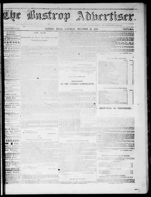 Primary view of object titled 'The Bastrop Advertiser (Bastrop, Tex.), Vol. 17, No. 4, Ed. 1 Saturday, December 13, 1873'.