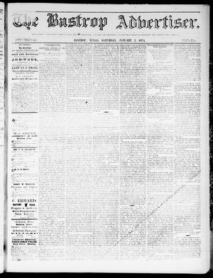 Primary view of object titled 'The Bastrop Advertiser (Bastrop, Tex.), Vol. 17, No. 6, Ed. 1 Saturday, January 3, 1874'.