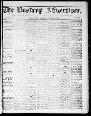 Primary view of object titled 'The Bastrop Advertiser (Bastrop, Tex.), Vol. 17, No. 7, Ed. 1 Saturday, January 10, 1874'.